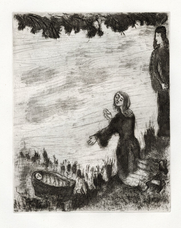 Marc Chagall, 'Moïse Sauvé des Eaux (Moses Saved from the Water)', 1956, Print, Etching, Goldmark Gallery