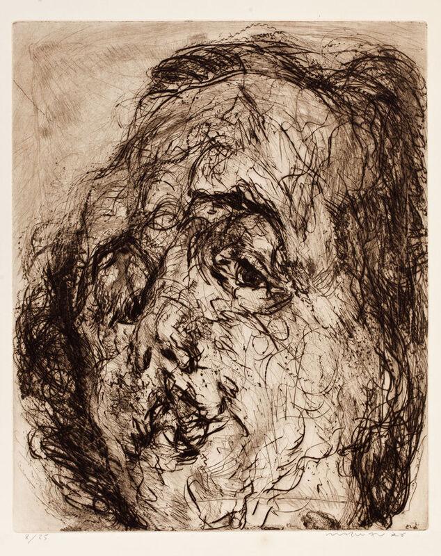 Marwan (Marwan Kassab-Bachi), 'Kopf', 1976, Print, Etching on paper, Meem Gallery