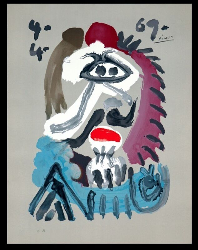 """Pablo Picasso, 'Series of """"Imaginary portraits"""", about the kings of Spain """" 4.4.69 """"', 1971, Print, Lithograph, BOCCARA ART"""