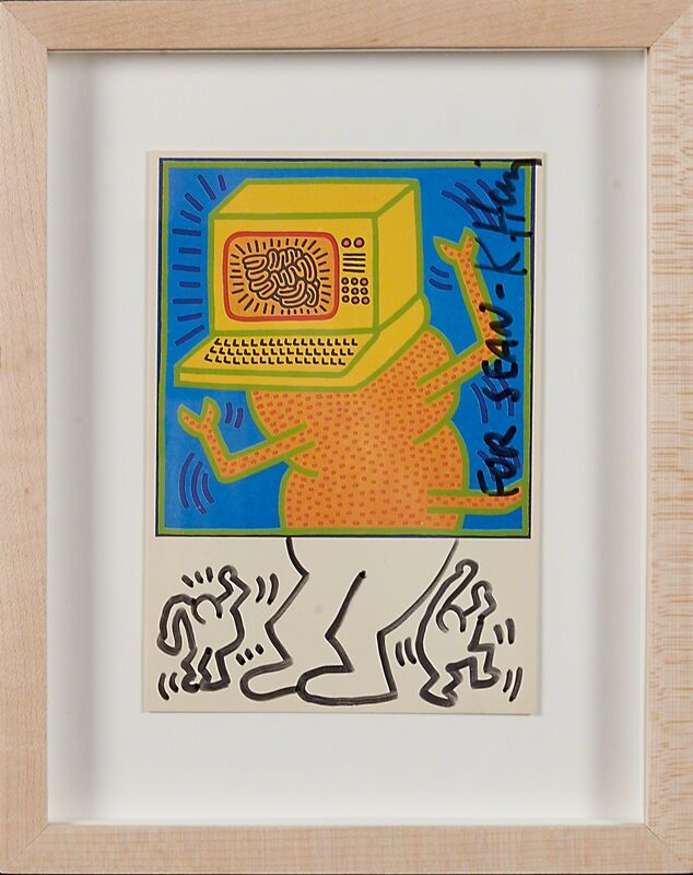 Keith Haring, 'Untitled (card)', Print, Lithograph in colors (framed), Rago/Wright