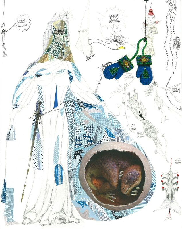 Elena Cecchinato, 'I want your face in my wallet', 2010, Drawing, Collage or other Work on Paper, Collage, ink, pen drawings and mixed media, Sping/Break Benefit Auction