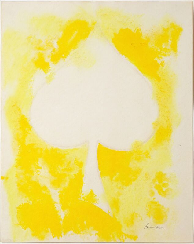 David Hammons, 'Untitled (white spade)', 1975, Drawing, Collage or other Work on Paper, Oil, acrylic and pastel on paper, Thomas Dane Gallery