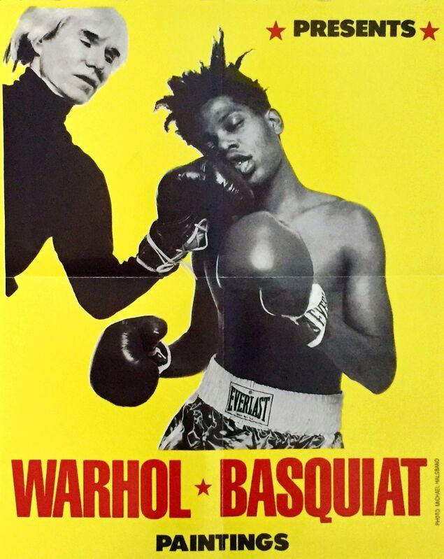 Andy Warhol, 'Warhol, Basquiat Boxing Poster (Tony Shafrazi, The Palladium 1985)', 1985, Ephemera or Merchandise, Offset lithograph, Lot 180
