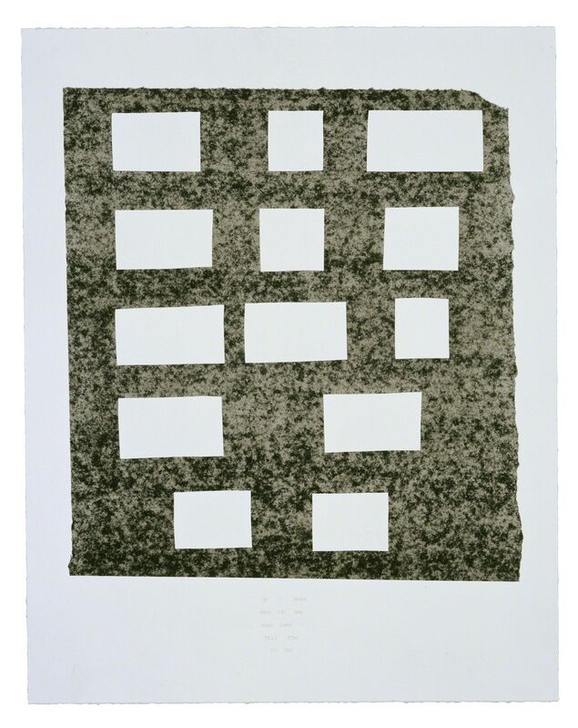 Ed Ruscha, 'If I Was You...', 2007, Print, 3 color lithograph, Gemini G.E.L.