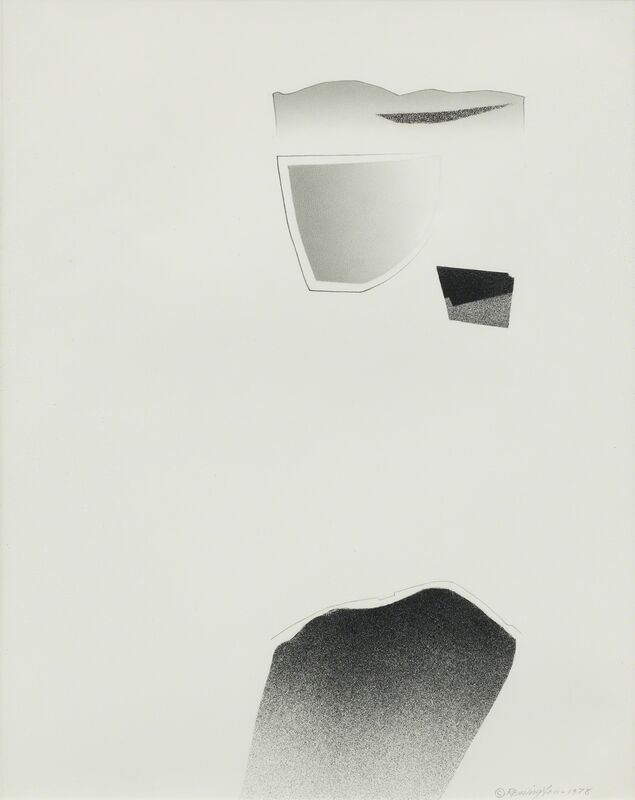 Deborah Remington, 'Trace Series #10', 1978, Drawing, Collage or other Work on Paper, Black spray paint, pencil, graphite, Kimmerich Gallery