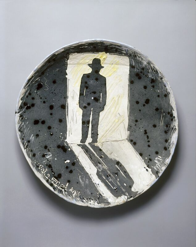 Viola Frey, 'H.K. in Doorway', 1978, Sculpture, Ceramic and glazes, Artists' Legacy Foundation