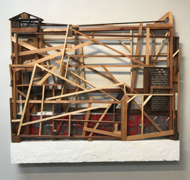 Trent Burkett, 'Construction with Red', 2016