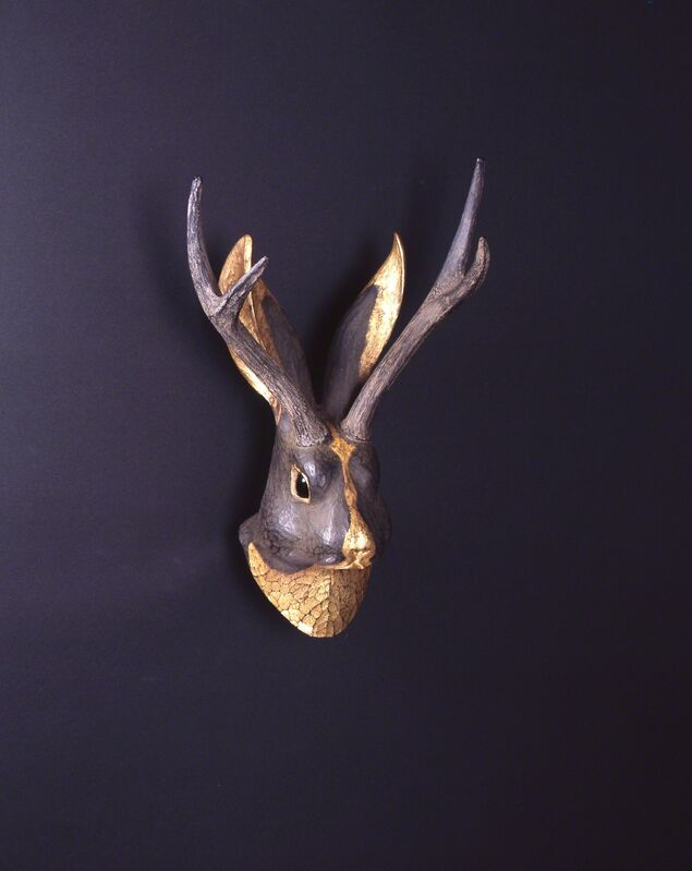 AKIO OHMORI, 'Jackalope in the moonlit night', Sculpture, Bronze, Shinseido