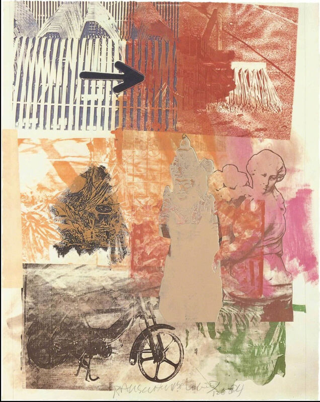 Robert Rauschenberg, 'Untitled (Arrow)', 1984, Print, Offset lithograph printed in colors on Arches paper, to the edges, World House Editions
