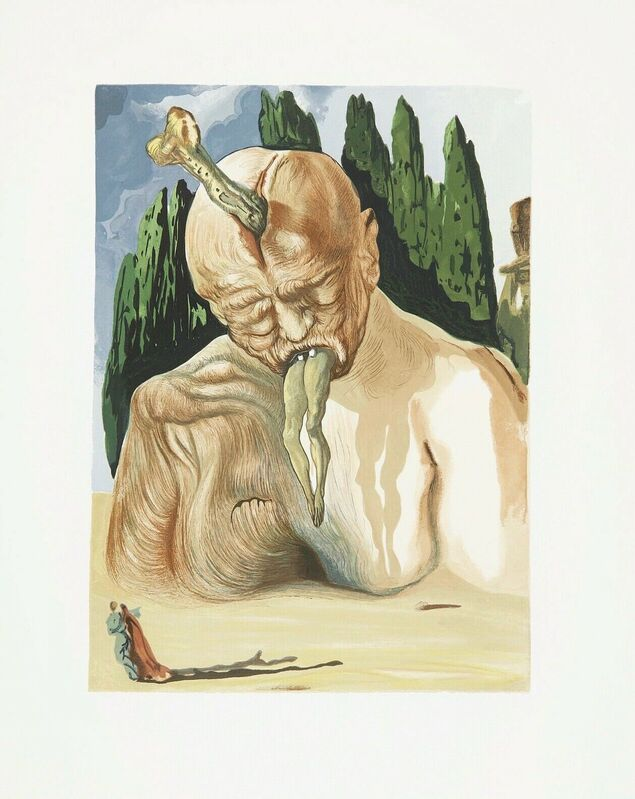Salvador Dalí, 'Hell Canto #34, The Divine Comedy (Field 196)', 1959-1964, Print, Engraving on BFK Rives paper, Art Commerce