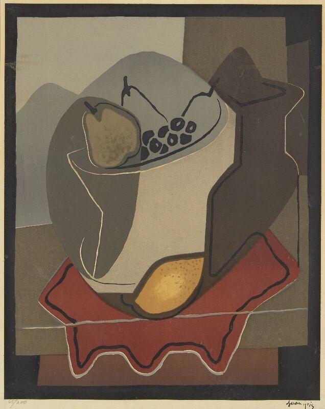 Juan Gris, 'Nature Morte aux Fruits', Print, Lithograph in colours on wove, Roseberys