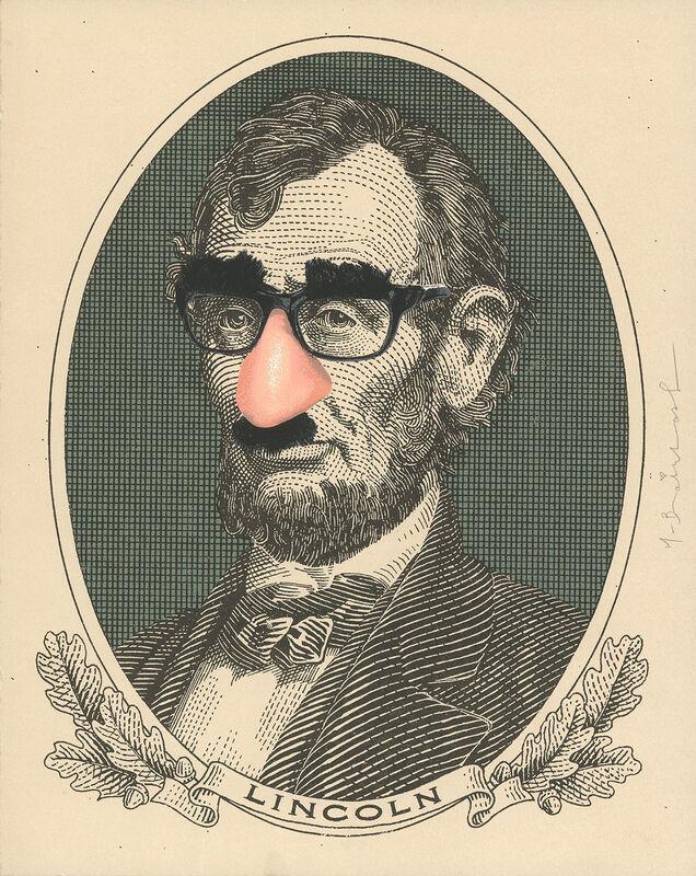 Mr. Brainwash, 'Incognito Lincoln', 2019, Print, Silkscreen on paper, DANE FINE ART