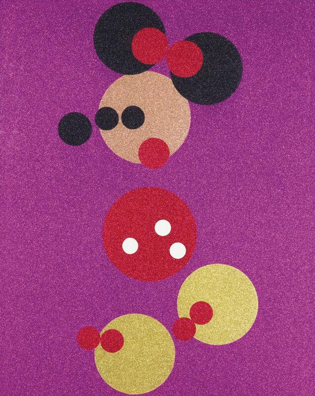 Damien Hirst, 'Minnie (Large)', 2016, Print, Silkscreen print plus glitter, Dallas Collectors Club