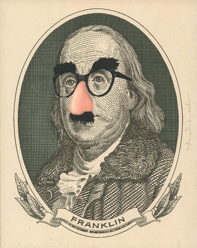 Mr. Brainwash, 'Incognito (Franklin)', 2019, Print, Silkscreen on paper, DANE FINE ART