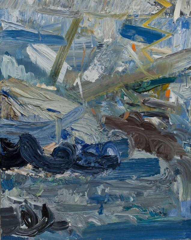 John Santoro, 'Hong Kong Thunderstorms: Amber Rain', 2014, Painting, Oil on canvas, Paul Thiebaud Gallery