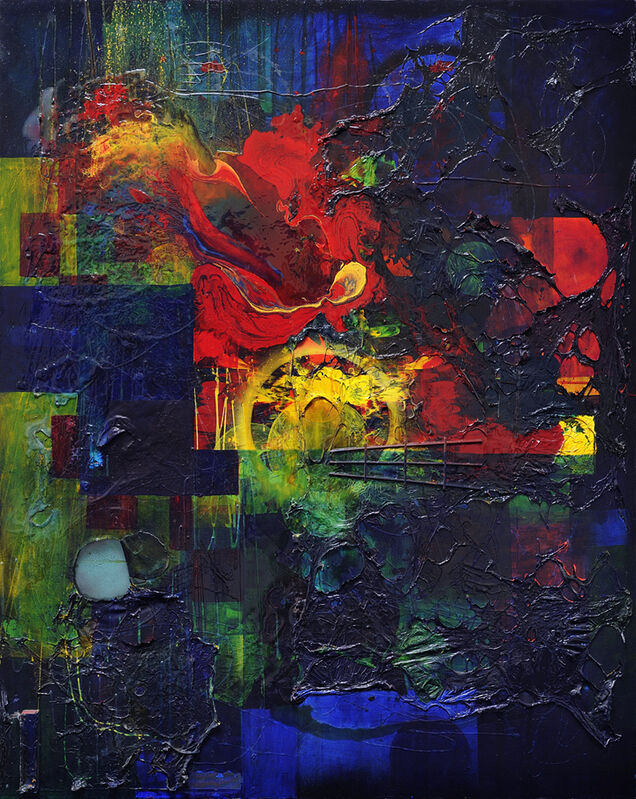 Dale Frank, 'Modern Art II', 1988, Painting, Acrylic, resin and mixed media on canvas, Charles Nodrum Gallery