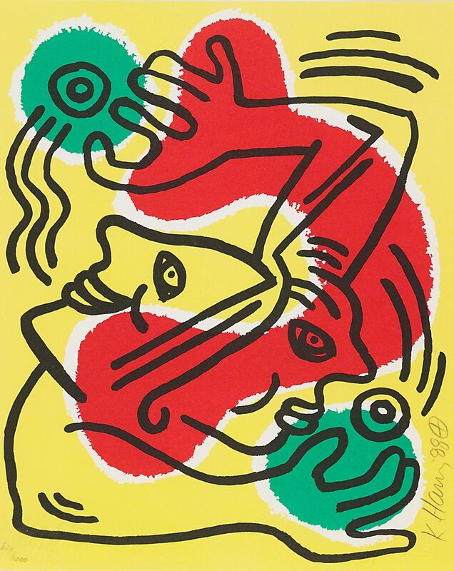 Keith Haring, 'International Volunteer Day', 1988, Print, Lithograph in colors, Rago/Wright