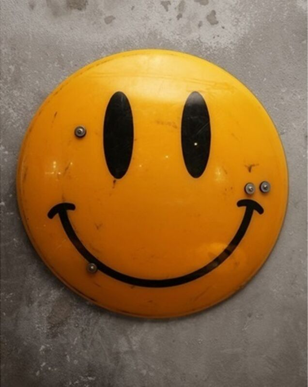 Banksy, 'JAMES CAUTY X DISMALAND SMILEY RIOT SHIELD DL-1 EDITION, NUMBERED & SIGNED WITH COA', 2015, Design/Decorative Art, Original Mixed Media, Appropriated Police Riot Shield (Metal), Arts Limited