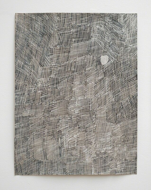 Nyapanyapa Yunupingu, 'Djorra (paper) 18', 2014, Drawing, Collage or other Work on Paper, Felt tip pen, earth pigments on discarded print proofs, Roslyn Oxley9 Gallery