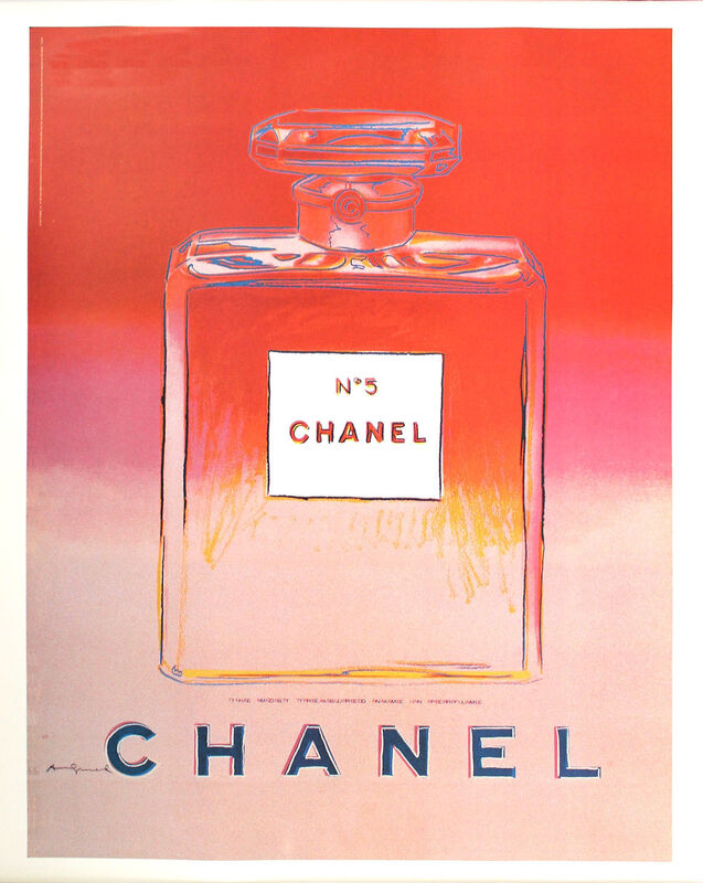 Andy Warhol, 'Chanel No. 5 (Red/Pink)', ca. 1997, Ephemera or Merchandise, Offset lithograph with linen backing, EHC Fine Art