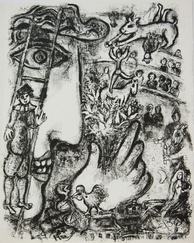 Marc Chagall, 'Le Cirque', 1967, Print, Lithograph printed in black and white on Arches paper, Baterbys