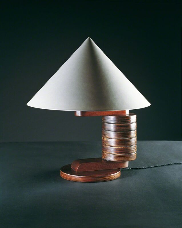André Sornay, 'Lamp', ca. 1935, Design/Decorative Art, Rosewood with brass nails. Ivory coloured shade., Galerie Alain Marcelpoil
