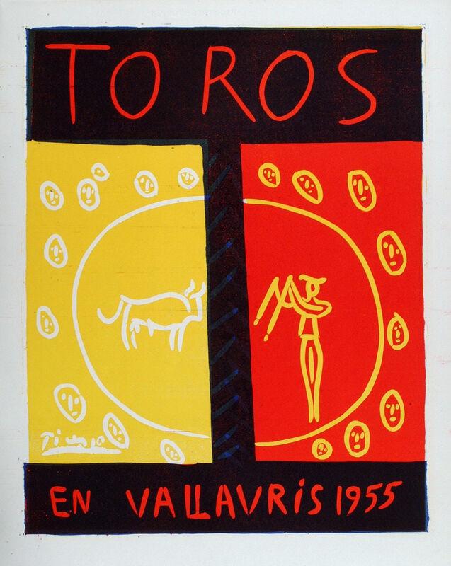 Pablo Picasso, 'Toros en Vallauris 1955', 1955, Print, Linocut printed in colours, Frederick Mulder