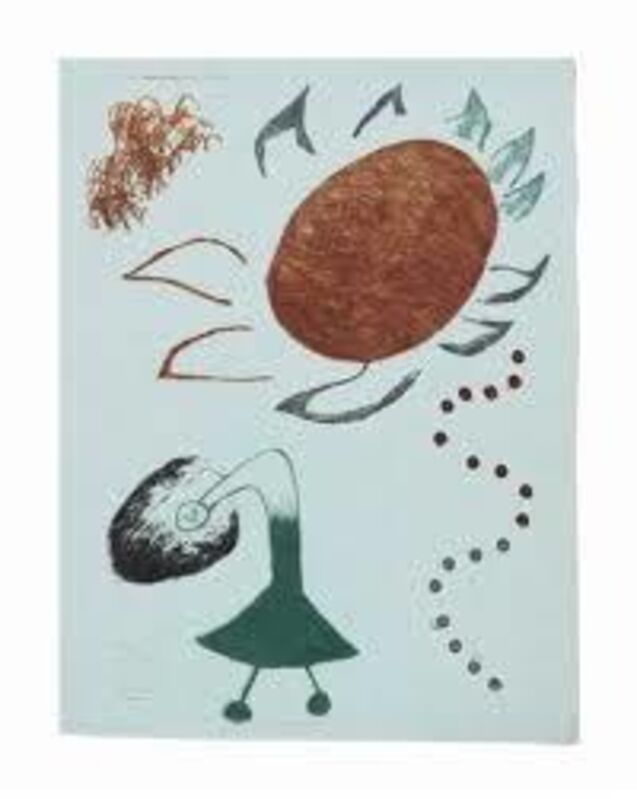 Joan Miró, 'Untitled from Au Paradis des fantomes', 1938, Print, Drypoint and aquatint, printed in color on Montval blue paper, Isselbacher Gallery