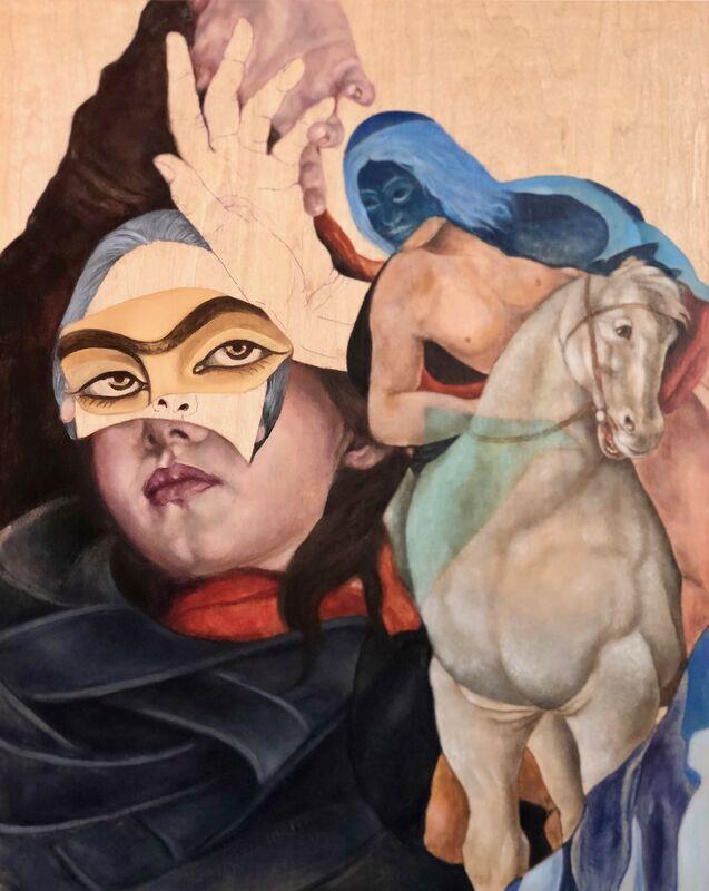 Bahar Sabzevari, 'Leili & Majnoon', 2019, Painting, Oil on wood panel, Leila Heller Gallery
