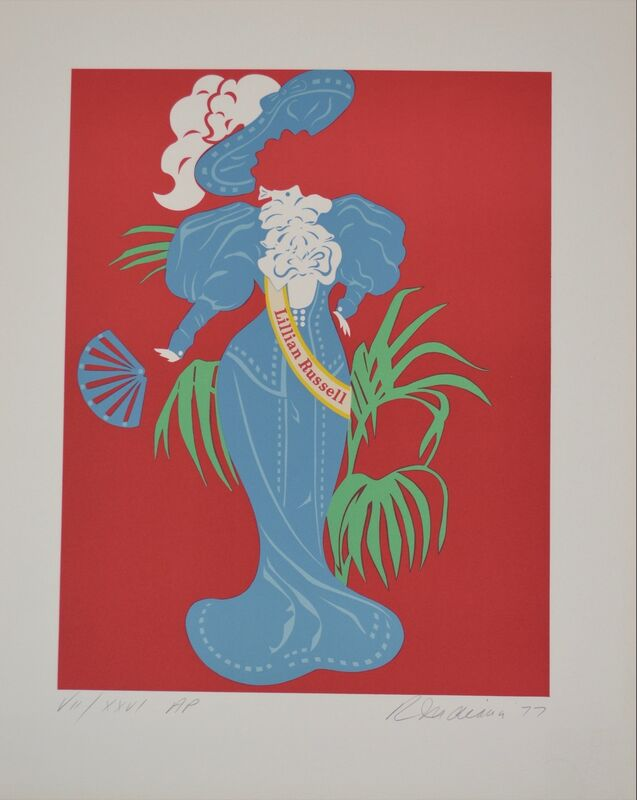 Robert Indiana, 'Lilian Russell - Mother of us all portfolio', 1977, Print, Lithograph, Composition.Gallery