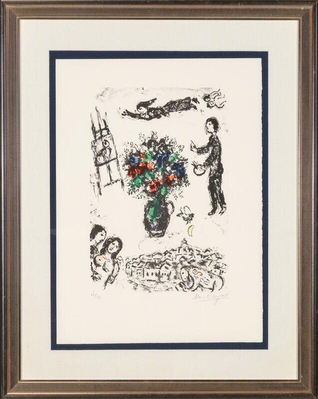 Marc Chagall, 'Bouquet sur la ville', 1983, Print, Lithograph in colors, Heritage Auctions