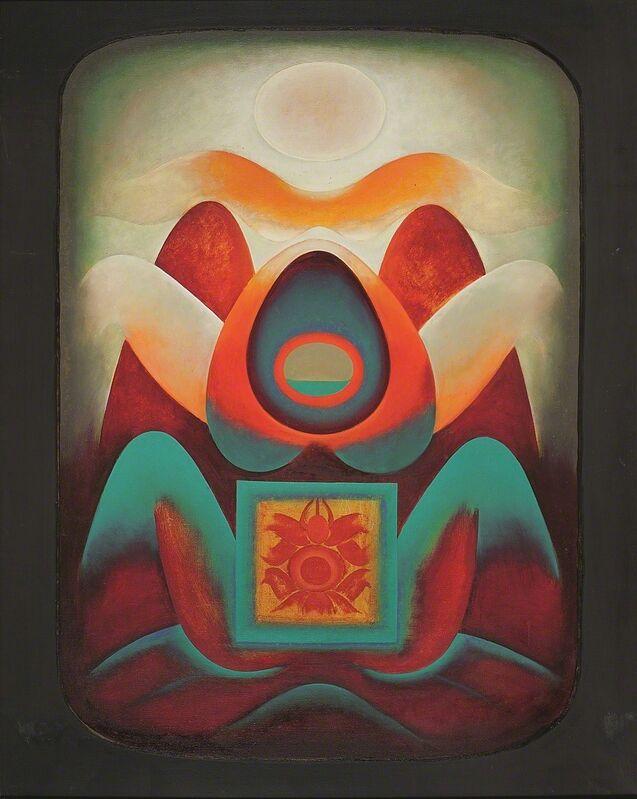 Gulam Rasool Santosh, 'Untitled (Shiva-Shakti Series)', 1971, Painting, Oil and acrylic on canvas, DAG