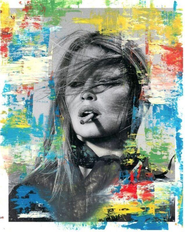 Mr. Brainwash, 'Bridgitte (Unique)', 2019, Mixed Media, Acrylic on gloss photograph, New River Fine Art
