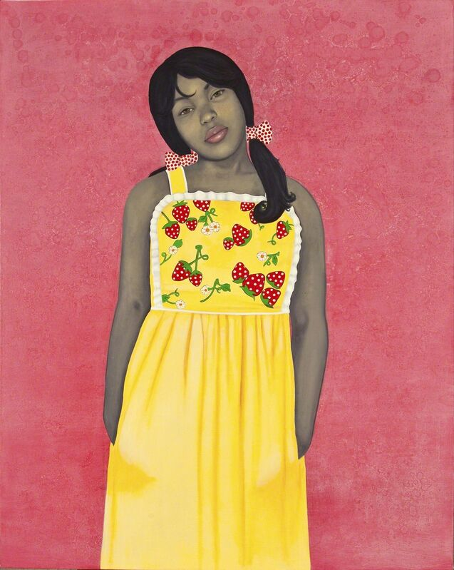 Amy Sherald, 'They call me Redbone but I'd rather be Strawberry Shortcake', 2009, Painting, Oil on canvas, National Museum of Women in the Arts