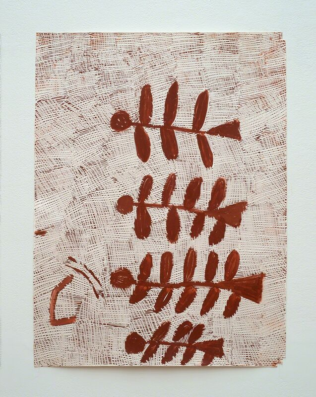 Nyapanyapa Yunupingu, 'Djorra (paper) 16', 2014, Drawing, Collage or other Work on Paper, Felt tip pen, earth pigments on discarded print proofs, Roslyn Oxley9 Gallery