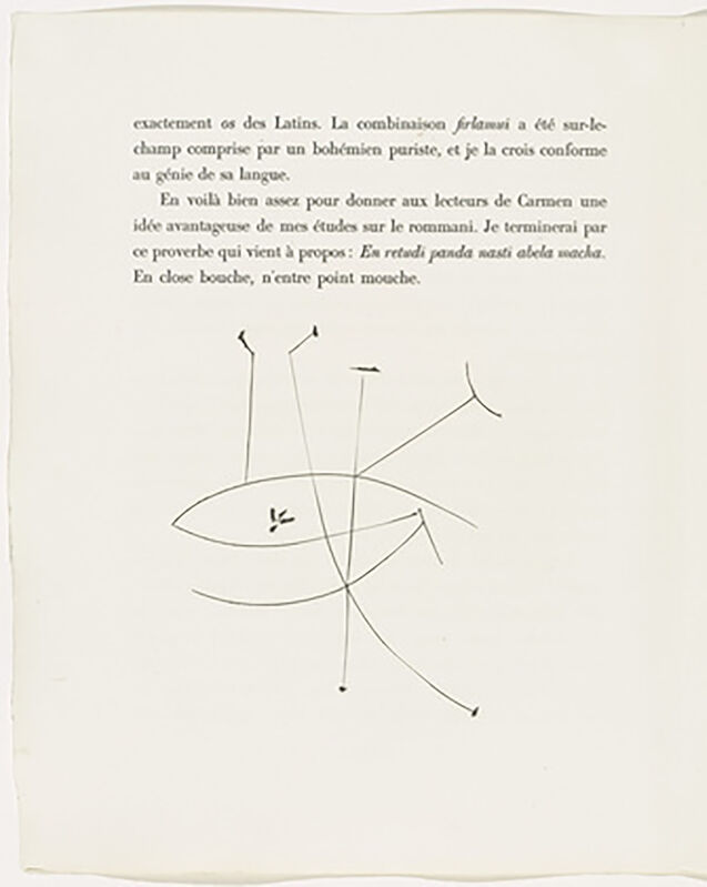 Pablo Picasso, 'The Eye (Plate XXXVIII)', 1949, Print, Original etching on Montval wove paper, Georgetown Frame Shoppe
