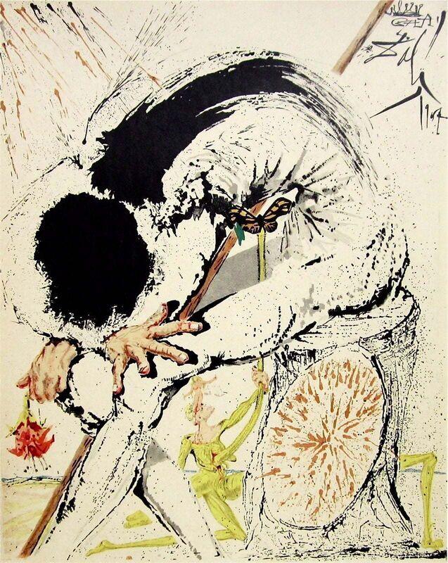 Salvador Dalí, 'Don Quichotte Overwhelmed', 1957, Print, Stone Lithograph on Japon Imperial paper, Art Commerce