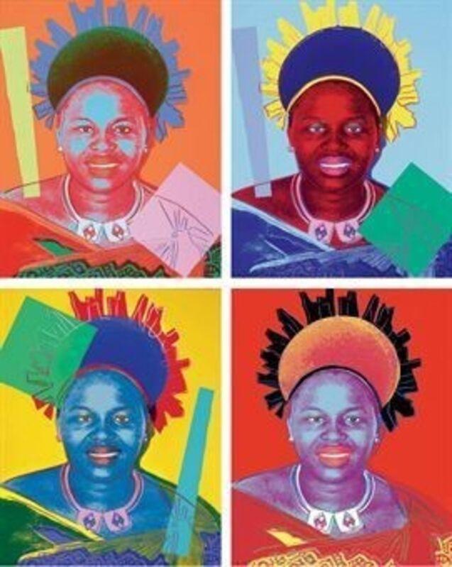 Andy Warhol, 'Queen Ntombi Twala', 1985, Print, Oil on canvas, Gallery Sofie Van de Velde