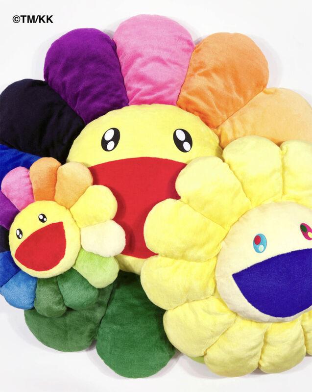 Takashi Murakami, ''Flower' (rainbow' Plush Cushion', 2020, Design/Decorative Art, Plush decorative cushion, Signari Gallery