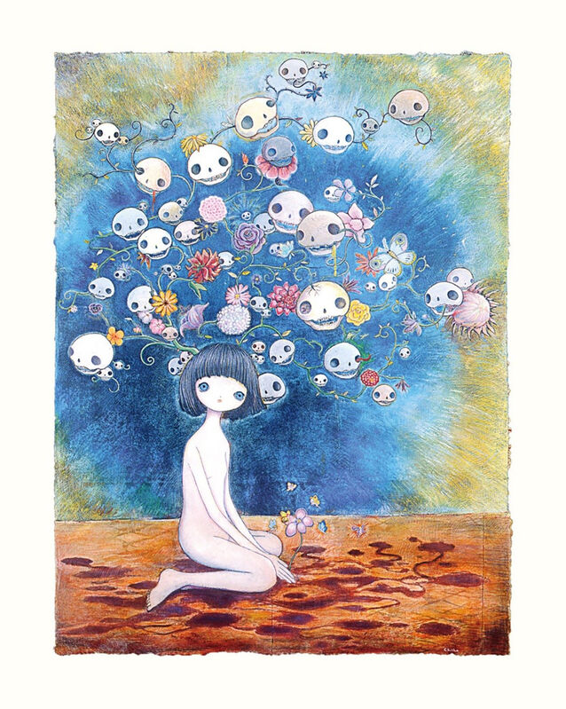 Chiho Aoshima, 'The Souls and Flowers Around Me', 2021, Print, Archival Pigment Print + Silkscreen, Pinto Gallery