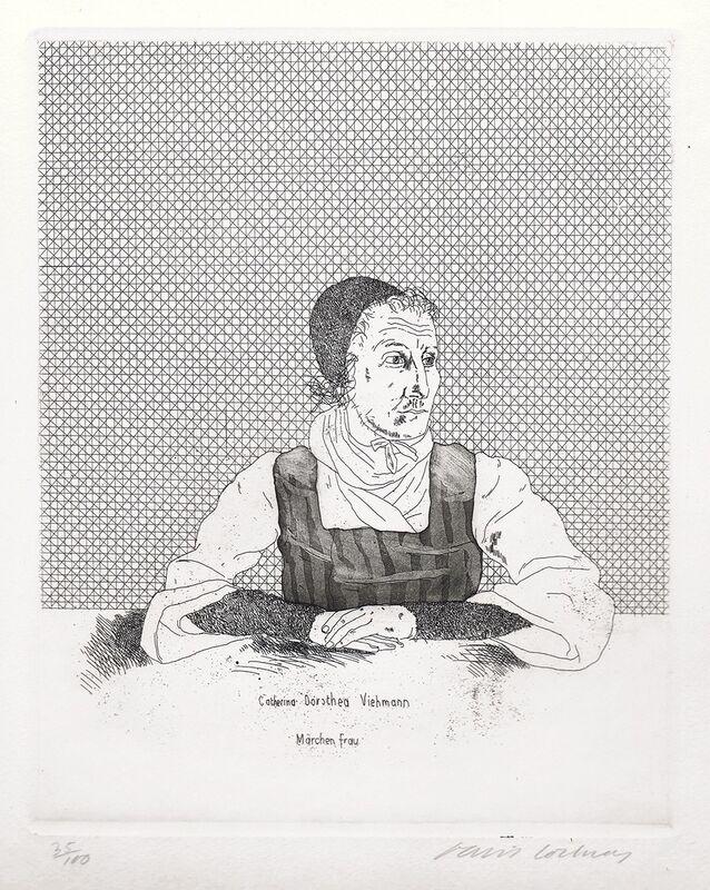 David Hockney, 'Catherina Dorothea Viehmann', 1969, Print, Etching, Gerrish Fine Art