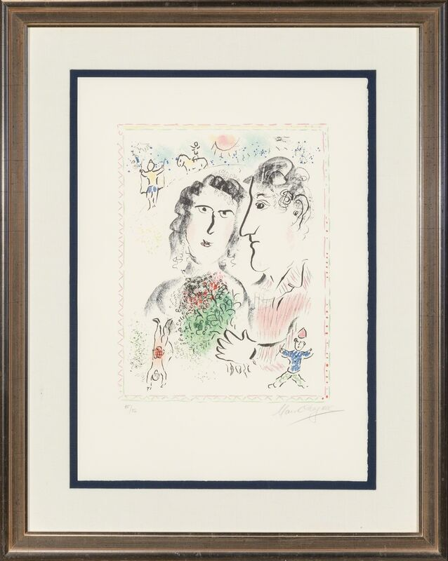 Marc Chagall, 'Engagement at the Circus', 1983, Print, Lithograph in colors on Arches, Heritage Auctions