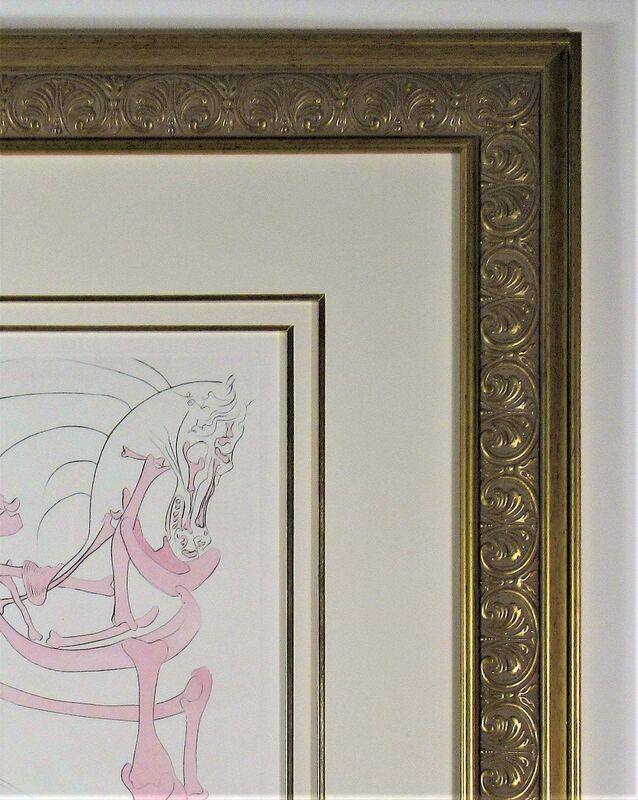 Salvador Dalí, 'Le Cheval en Rose (The Rosy Horse) ', 1975, Print, Original engraving with pochoir hand coloring on Richard de Bas paper,, Joseph Grossman Fine Art Gallery