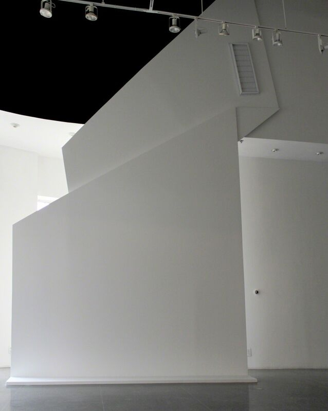 Juan López, '(f)old down', 2013, Installation, Vinyl, wood, drywall, Nogueras Blanchard