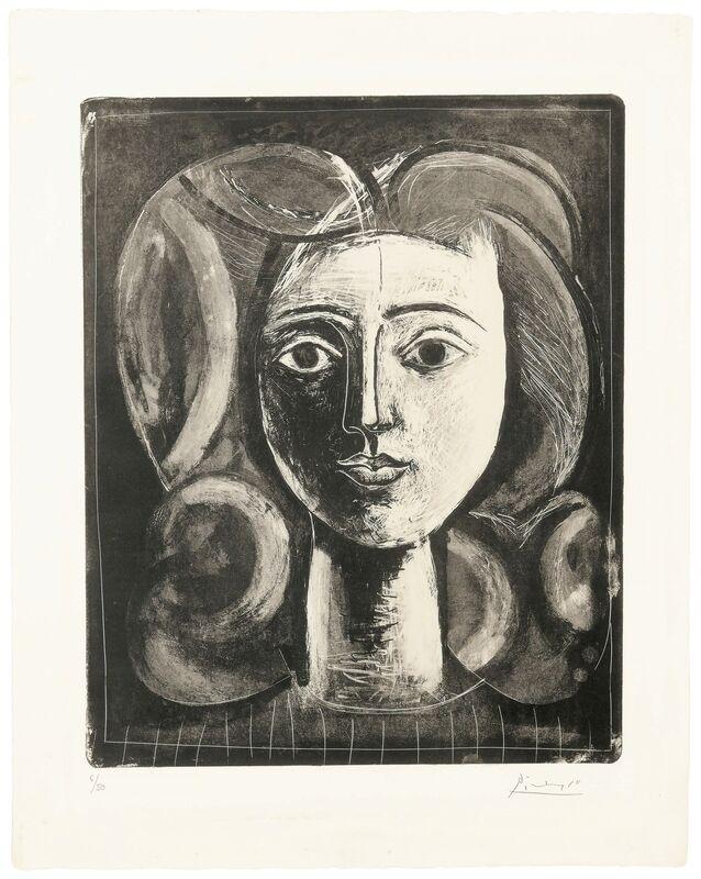 Pablo Picasso, 'Tête de jeune fille', 1947, Print, Lithograph, on Arches paper, Christie's