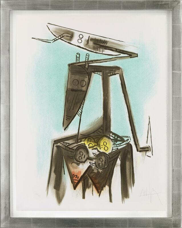 Wifredo Lam, 'Taureau-trois-graines s'est laisse' pousser les dents', 1973, Print, Color lithograph on Arches paper, Galerie Michael