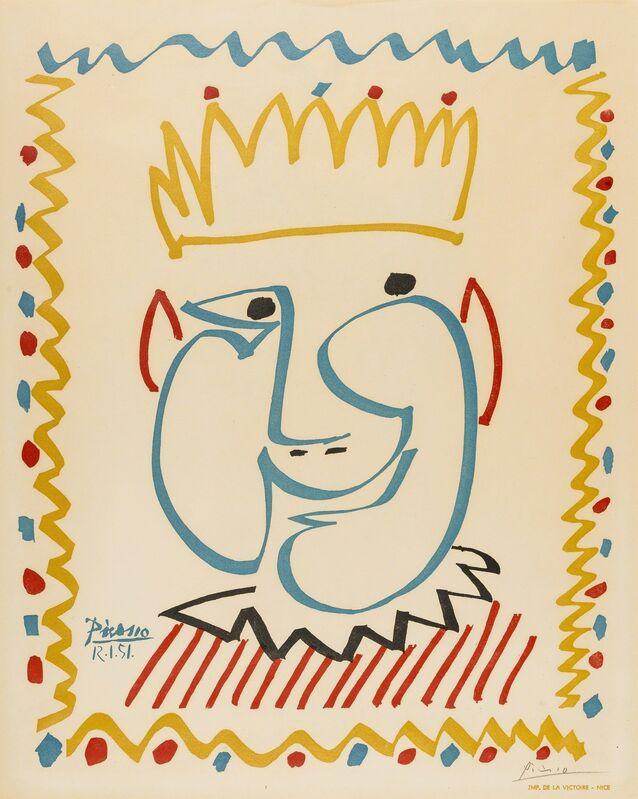 Pablo Picasso, 'Tête de Roi', 1951, Print, Lithograph printed in colors, Forum Auctions