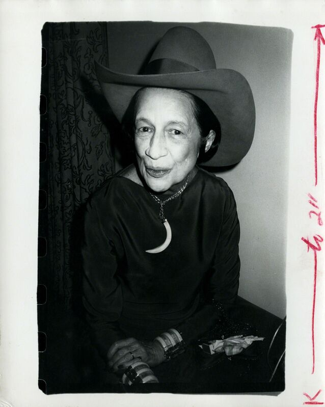 Andy Warhol, 'Diana Vreeland', ca. 1977, Photography, Silver gelatin print, Hedges Projects