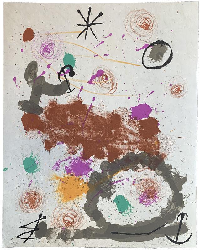 Joan Miró, 'Sans titre (Quelques fleurs pour des amis)', 1964, Print, Lithograph, Galerie Raphael