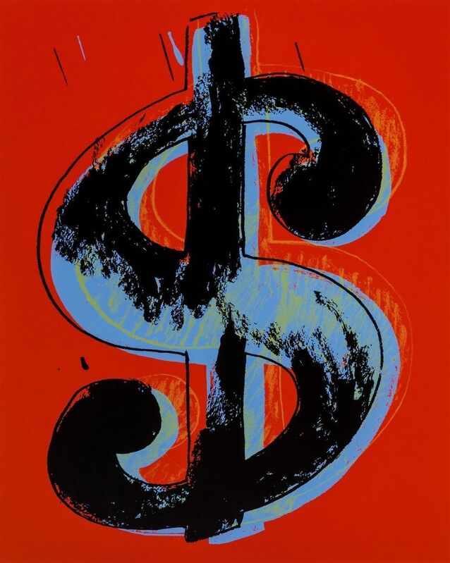 Andy Warhol, 'Dollar Sign (Red)', 1989, Print, Lithograph in colors on wove paper, Gallery Red